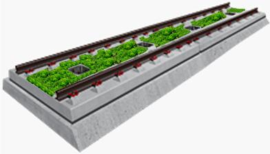 vegetation concrete track
